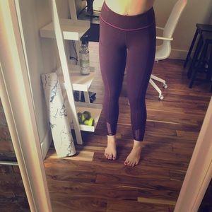 Lulu lemon limited edition burgundy leggings